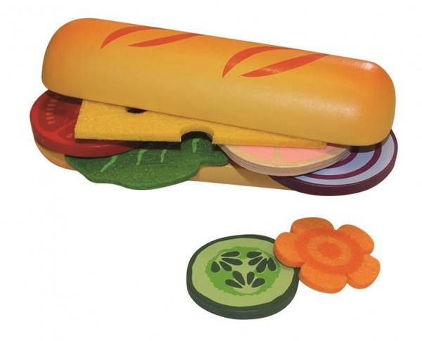2 Baguette mit Belag und Food Bag (Holz)