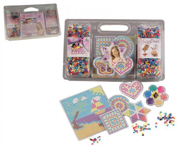 Bügelperlen-Set mit 10.000 Perlen und Schablonen