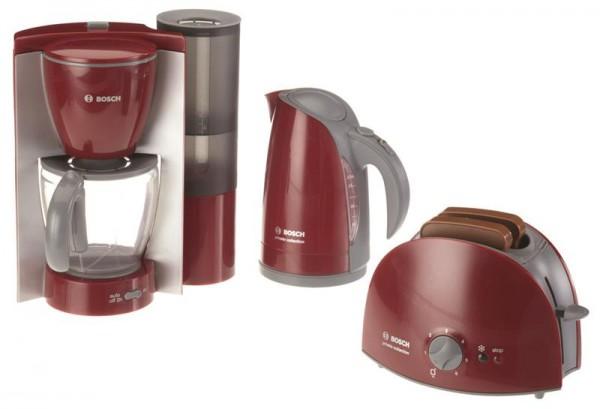 5-teiliges Bosch Frühstücksset. Kaffeemaschine, Wasserkocher und Toaster