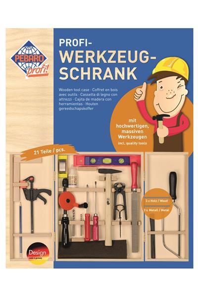 21-teiliger Profi-Werkzeugschrank aus Holz