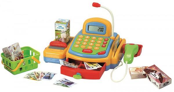 Kasse elektronisch mit Lautsprecher und viel Zubehör