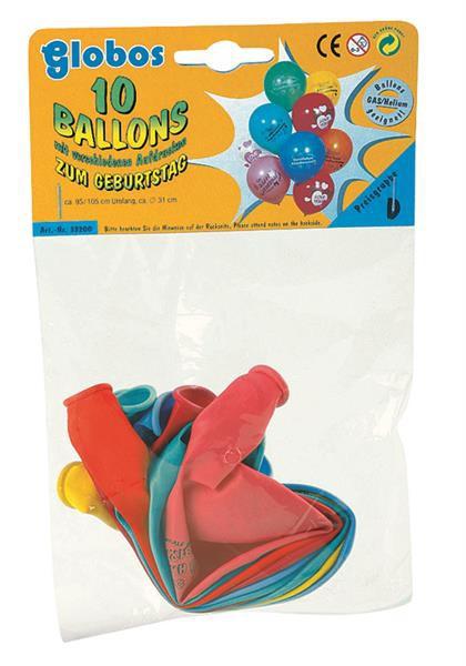 100 Stück Geburtstags-Luftballons