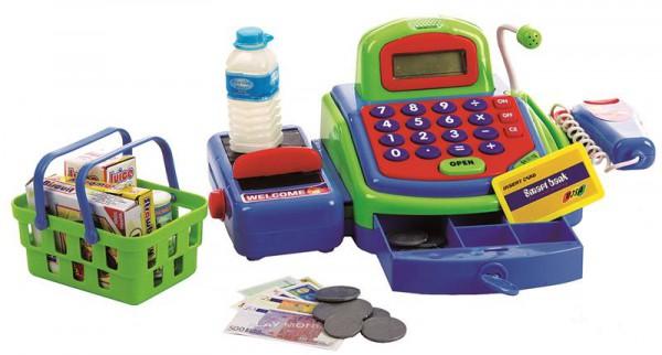 Kassensystem mit Scanner und Zubehör in grün