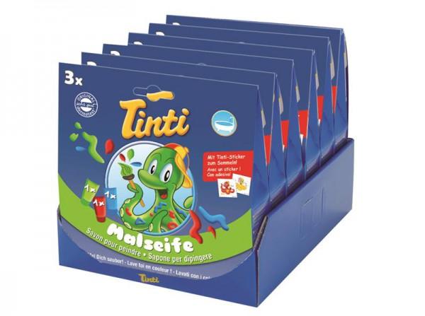 Tinti Malseife in blau, rot und grün, 6 Stück