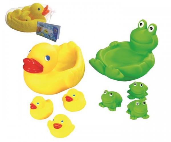 Badespielzeug Enten- oder Froschfamilie
