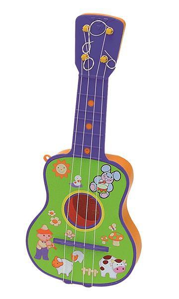 Kindergitarre (bunt) mit 4 Saiten