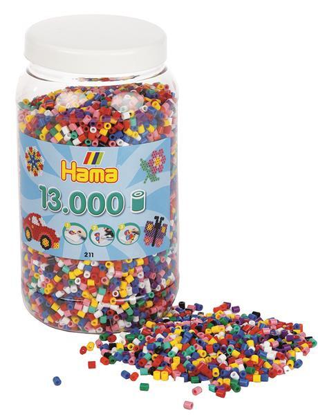 13,000 bunte Bügelperlen in Dose